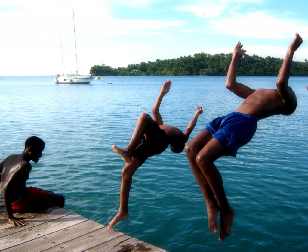 Photo credit: Kristi Keller – Local kids at Port Antonio marine